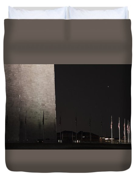 Glmpse Of The Washington Monument Duvet Cover