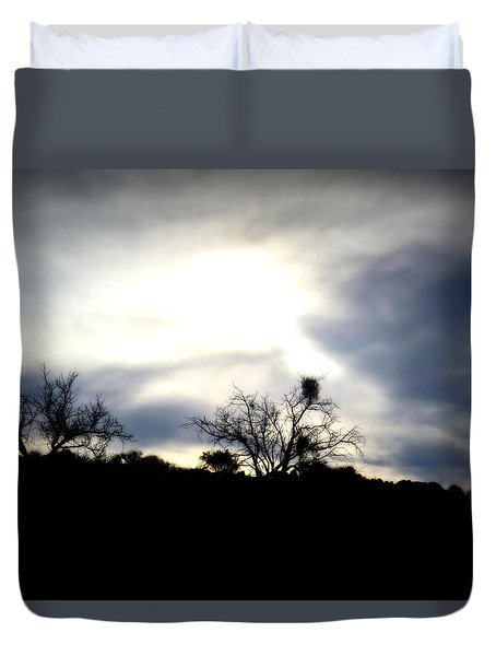 Gloaming Epiphany Duvet Cover by Nature Macabre Photography