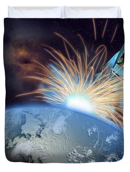 Global Meltdown Duvet Cover