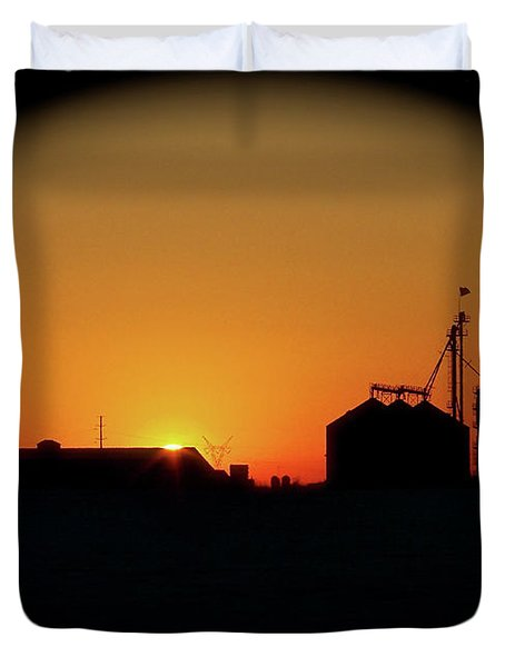 Global Sunset Duvet Cover by Sue Stefanowicz