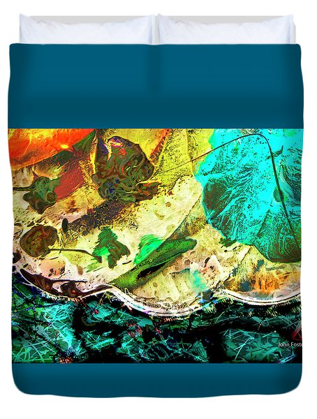 Global Warming Duvet Cover