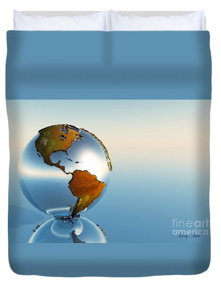Globe Duvet Cover by Corey Ford
