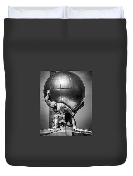 Globe Statue Duvet Cover