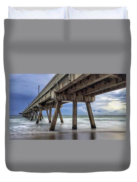 Gloomy Pier Duvet Cover