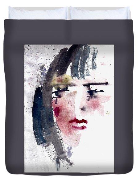 Gloomy Woman  Duvet Cover by Faruk Koksal