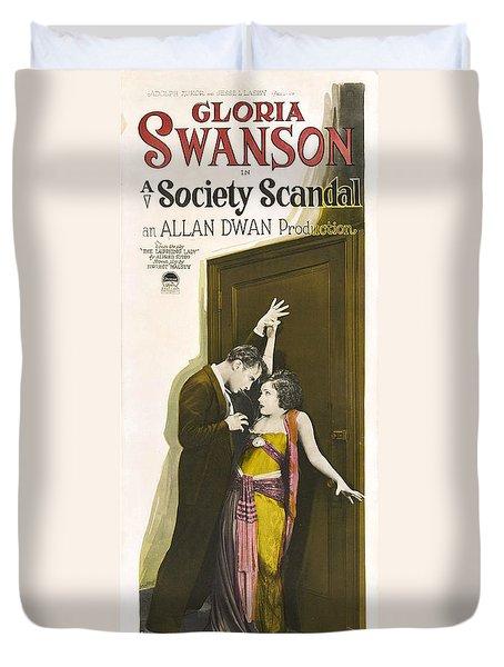 Gloria Swanson In Society Scandal 1924 Duvet Cover