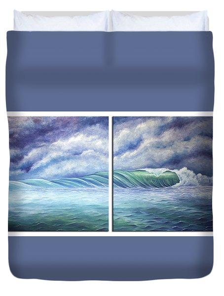 Duvet Cover featuring the painting Gloria by William Love