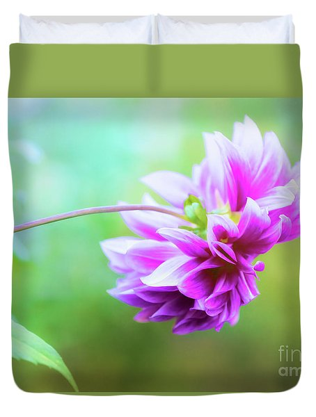 Glorious Autumn Dahlia Duvet Cover