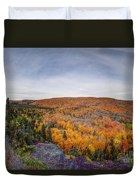 Glorious Autumn Lutsen Mountain Resort North Shore Minnesota Duvet Cover