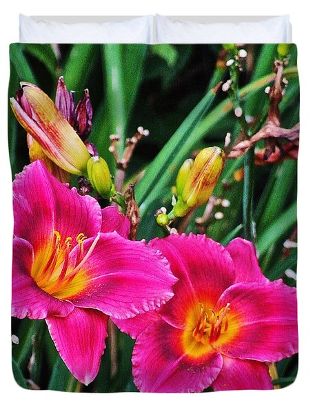 Glorious Daylilies Duvet Cover