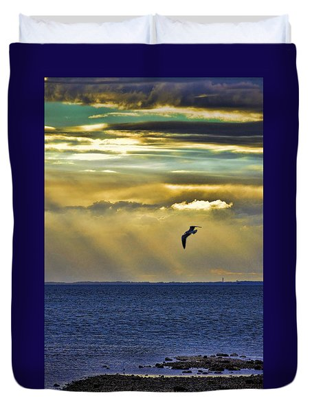 Duvet Cover featuring the photograph Glorious Evening by Jan Amiss Photography