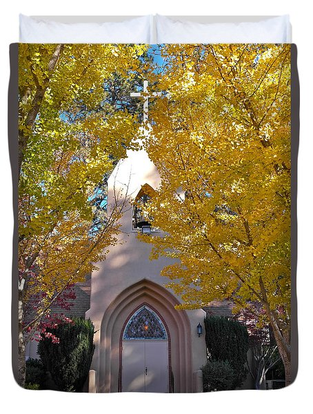 Glorious Golden Church Of Paradise Duvet Cover by Michele Myers