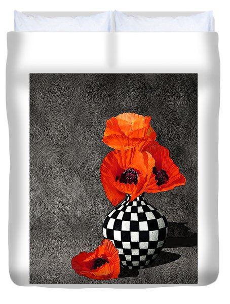 Glorious Poppies Duvet Cover by I'ina Van Lawick