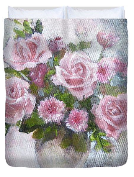 Glorious Roses Duvet Cover by Chris Hobel