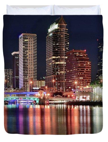 Glorious Tampa Bay Florida Duvet Cover
