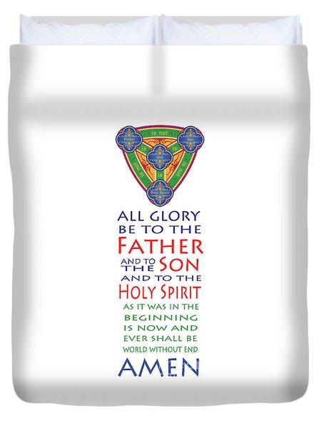 Glory Be Prayer Duvet Cover by Lawrence Klimecki