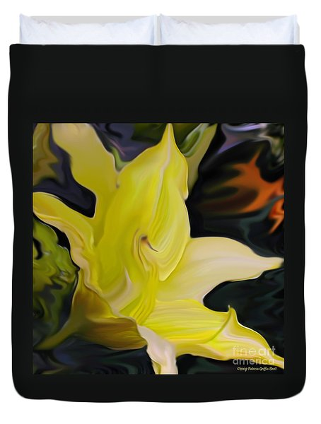 Duvet Cover featuring the painting Glory II by Patricia Griffin Brett