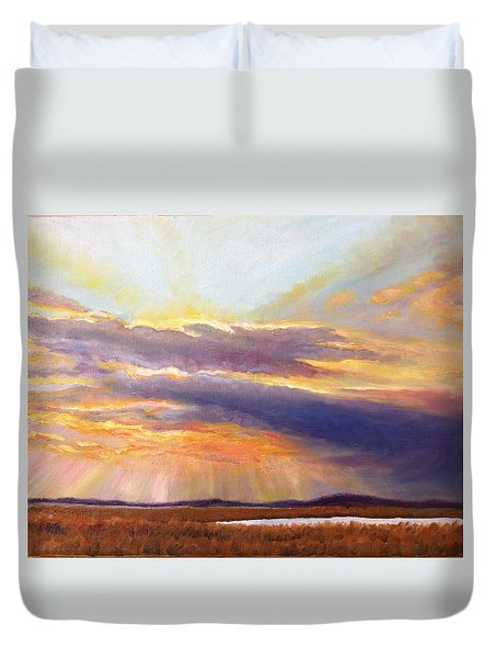 Glory Lights Duvet Cover by Rod Seel