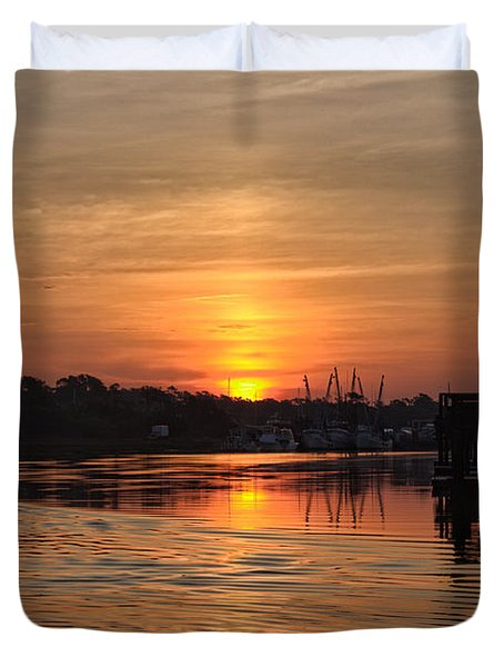 Glory Of The Morning On The Water Duvet Cover