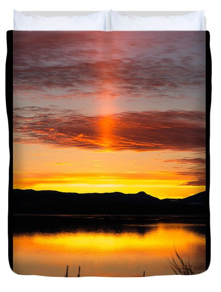Glory Pillar Duvet Cover by Jan Davies