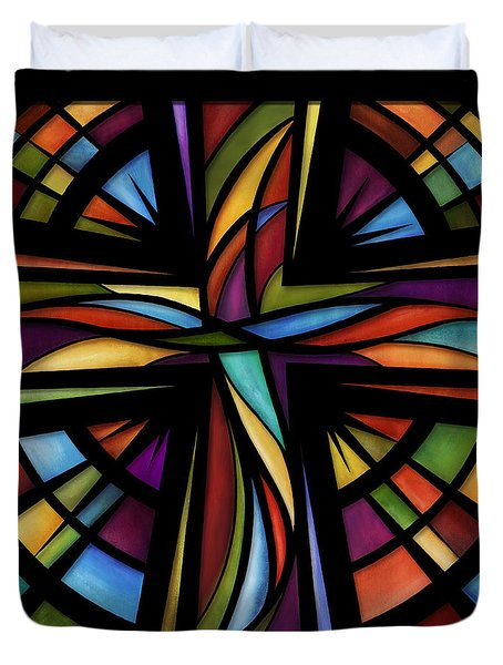 Glory To God Duvet Cover by Shevon Johnson