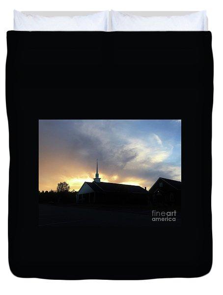 Glory To God Sunset Duvet Cover