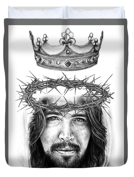 Glory To The King Duvet Cover