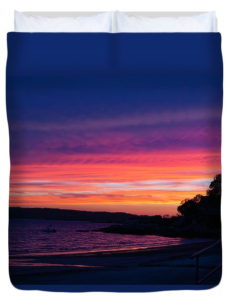 Gloucester Harbor Beach Duvet Cover
