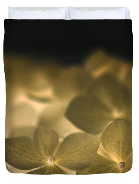 Glow Blossoms Duvet Cover