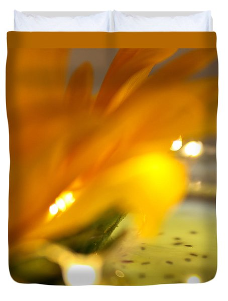 Duvet Cover featuring the photograph Glow by Bobby Villapando