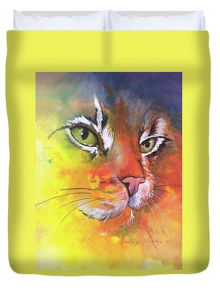 Glow Cat Duvet Cover