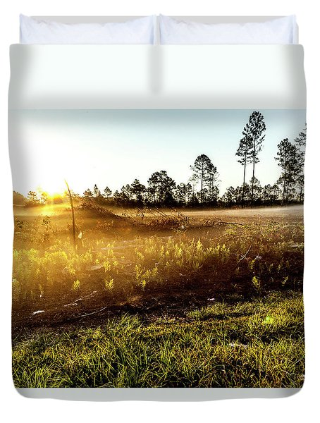 Duvet Cover featuring the photograph Glow by Eric Christopher Jackson