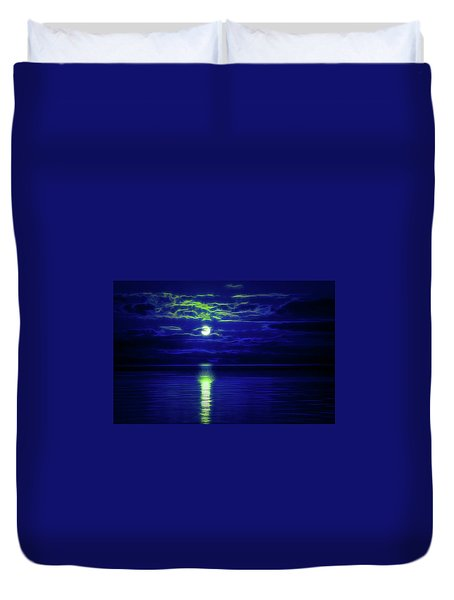 Glow In The Dark Amazing Sunset  Duvet Cover