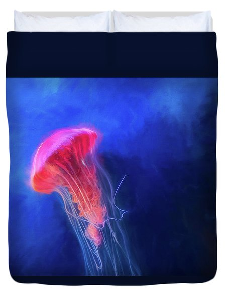 Duvet Cover featuring the photograph Glow by Joel Witmeyer