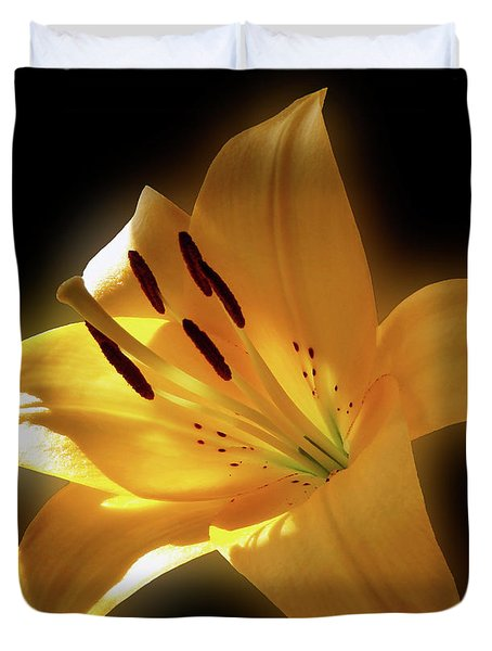 Glow Of The Lily Duvet Cover