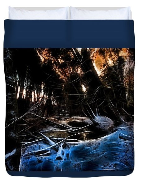 Glow River Duvet Cover