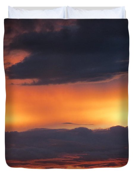 Glowing Clouds Duvet Cover