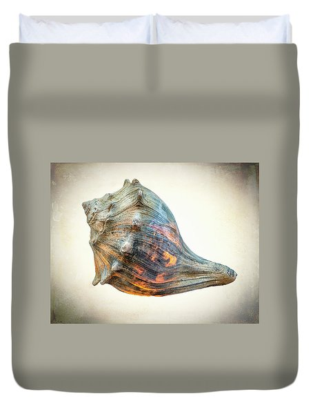 Glowing Conch Shell Duvet Cover