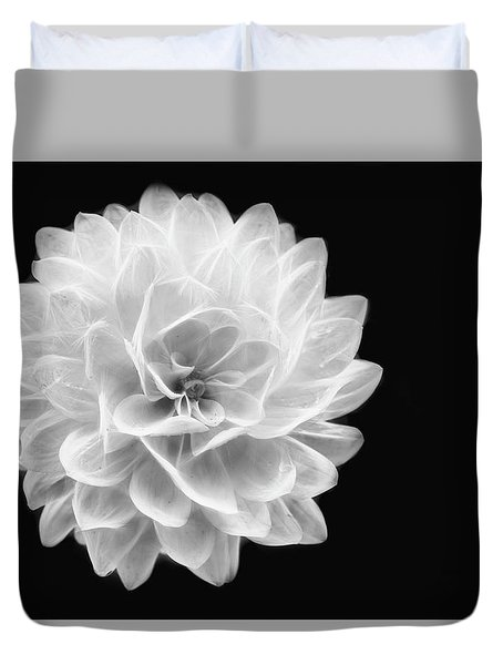 Glowing Dahlia Duvet Cover