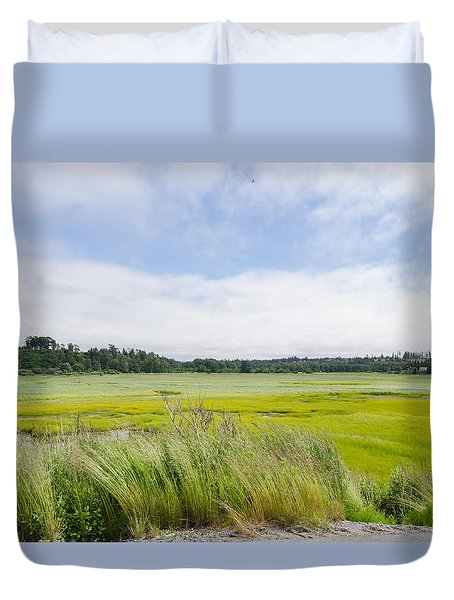 Glowing Fields Duvet Cover