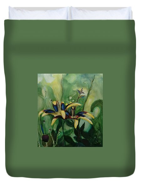 Glowing Flora Duvet Cover