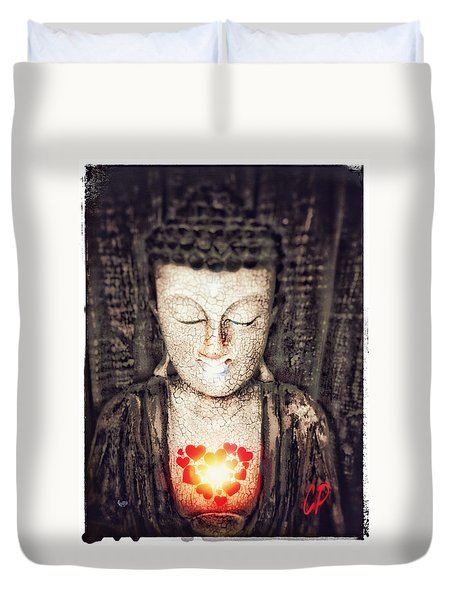 Glowing Heart Duvet Cover