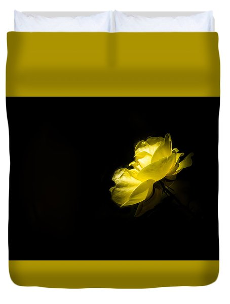 Duvet Cover featuring the photograph Glowing by Jay Stockhaus