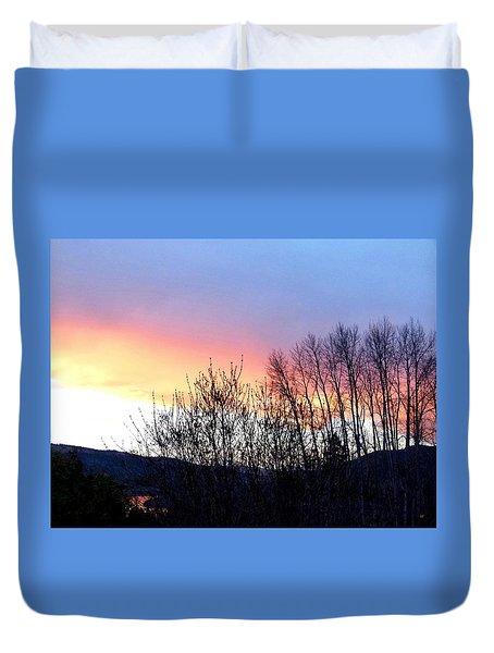 Glowing Kalamalka Lake Duvet Cover by Will Borden