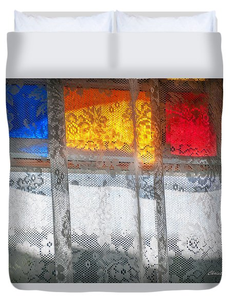 Glowing Lace Duvet Cover by Christopher Holmes