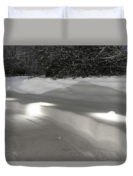 Glowing Landscape Lighting Duvet Cover