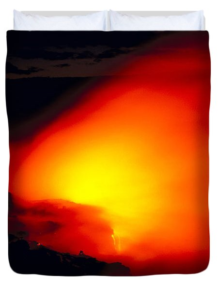 Glowing Lava Flow Duvet Cover by William Waterfall - Printscapes