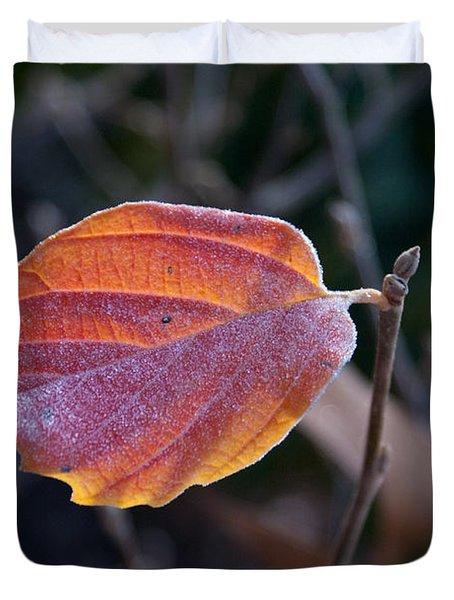Glowing Leaf Duvet Cover