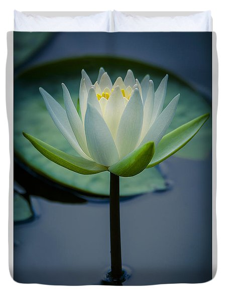 Glowing Lily Duvet Cover
