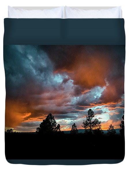 Glowing Mists Duvet Cover